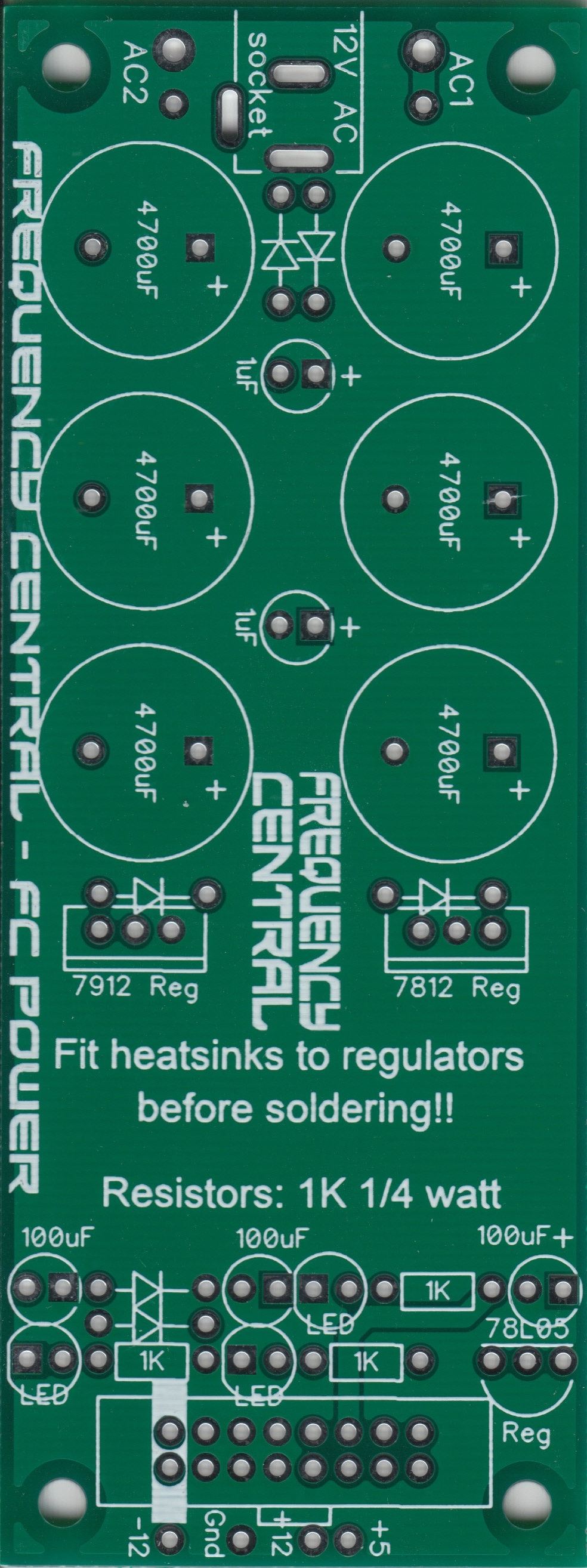 Frequency Central Expandobus passive bus Assembled Eurorack Doepfer