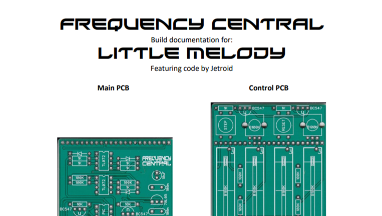 Little Melody Build Doc is here and now.