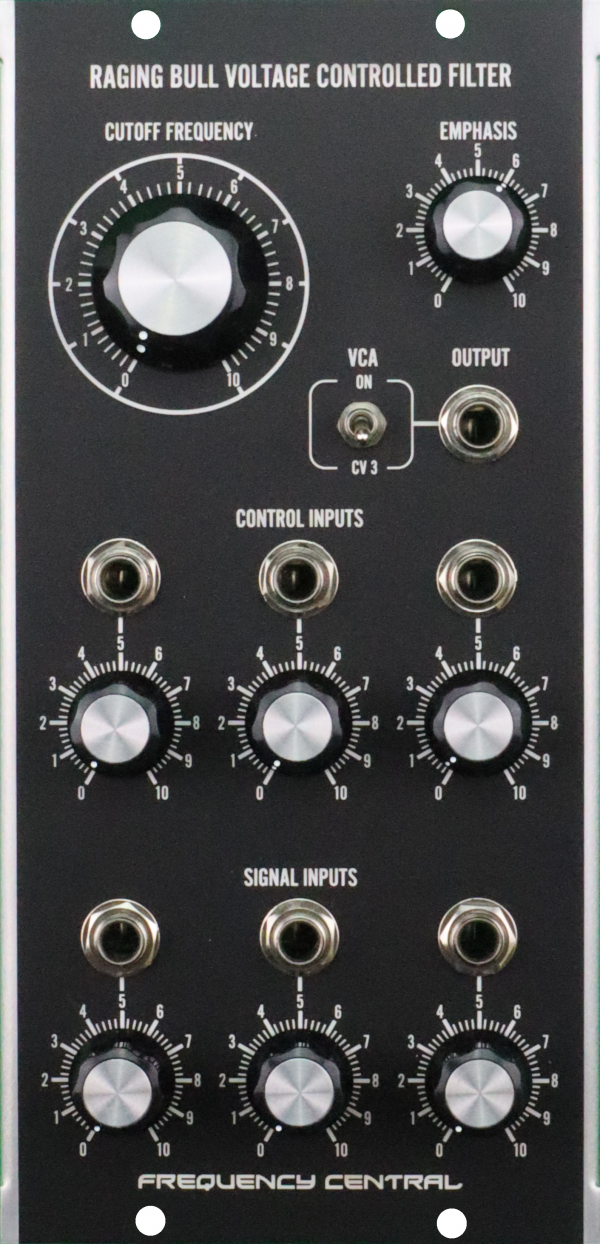 Assembled Frequency Central Raging Bull Voltage Controlled Filter